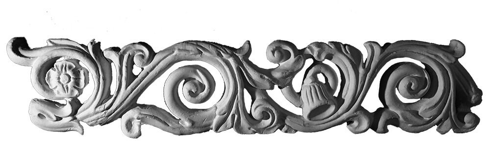 Flourish Scroll Plaster Coving Decoration